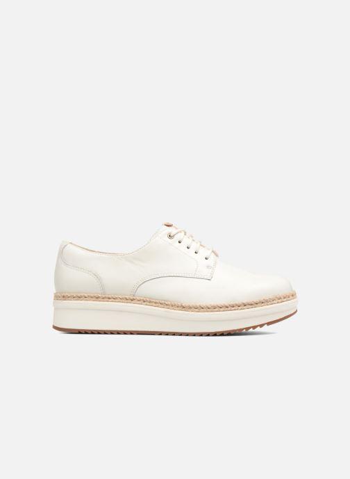 Snörade skor Clarks Teadale Rhea Vit bild från baksidan
