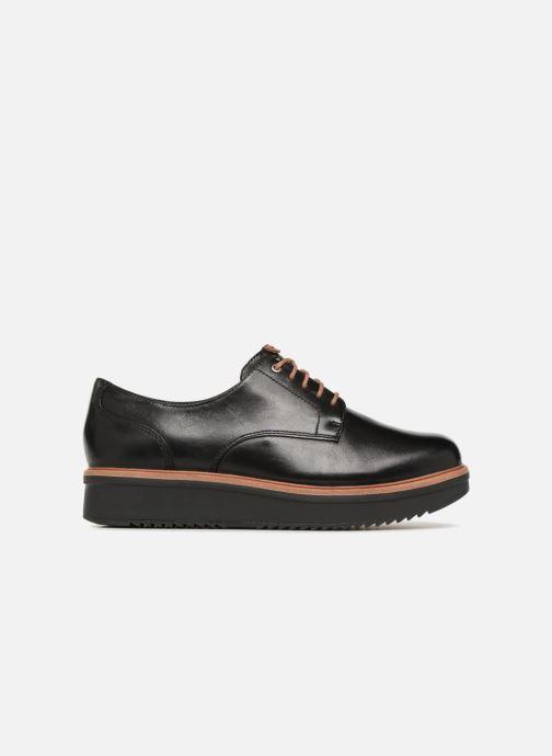 Snörade skor Clarks Teadale Rhea Svart bild från baksidan