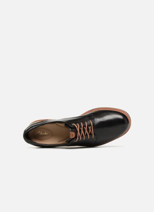Snörade skor Clarks Teadale Rhea Svart bild från vänster sidan
