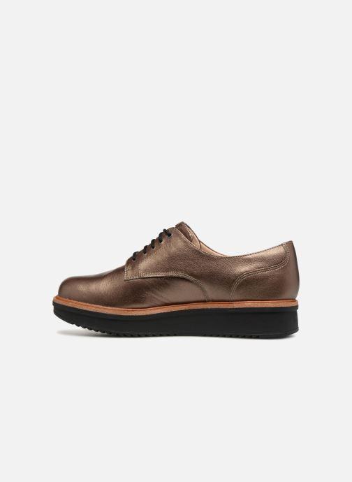 Zapatos con cordones Clarks Teadale Rhea Oro y bronce vista de frente