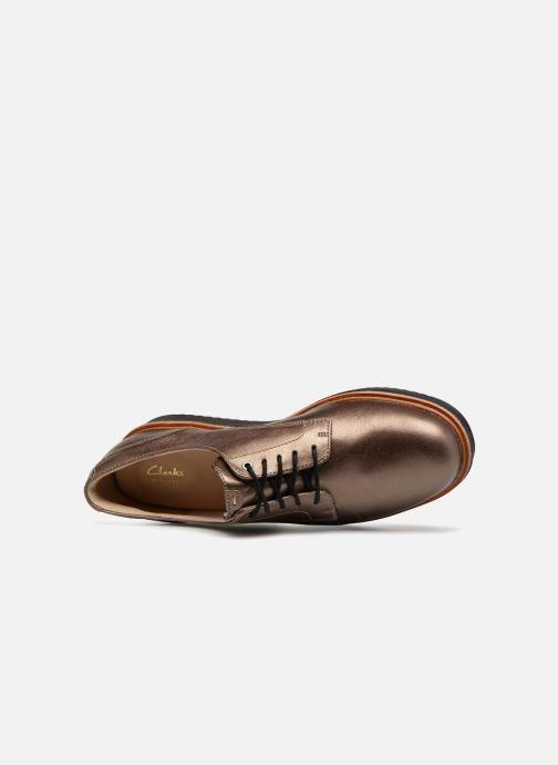 Zapatos con cordones Clarks Teadale Rhea Oro y bronce vista lateral izquierda