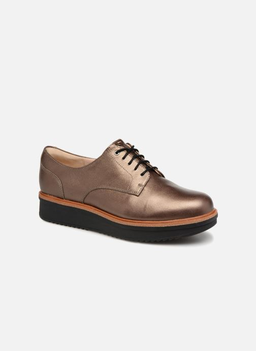 Snøresko Clarks Teadale Rhea Guld og bronze detaljeret billede af skoene