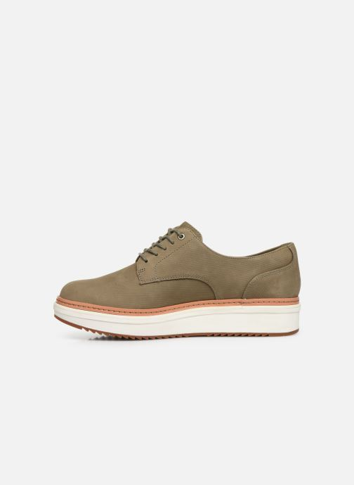 Lace-up shoes Clarks Teadale Rhea Green front view