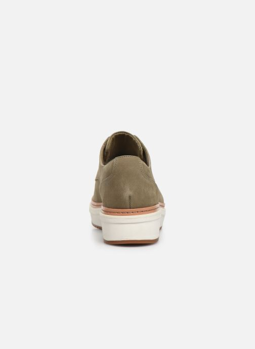 Lace-up shoes Clarks Teadale Rhea Green view from the right