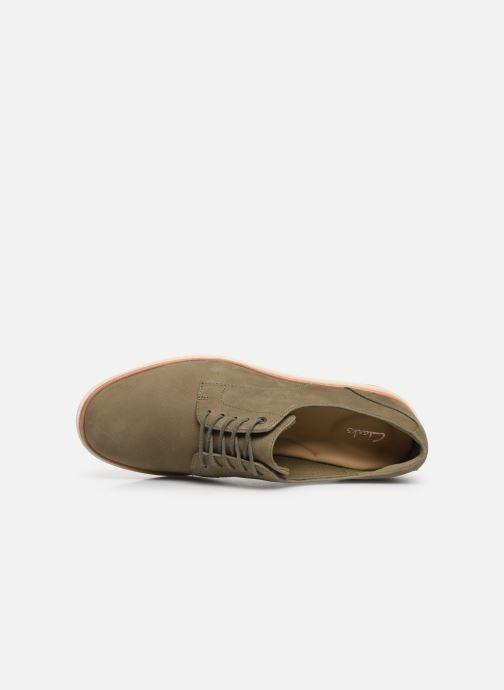 Zapatos con cordones Clarks Teadale Rhea Verde vista lateral izquierda