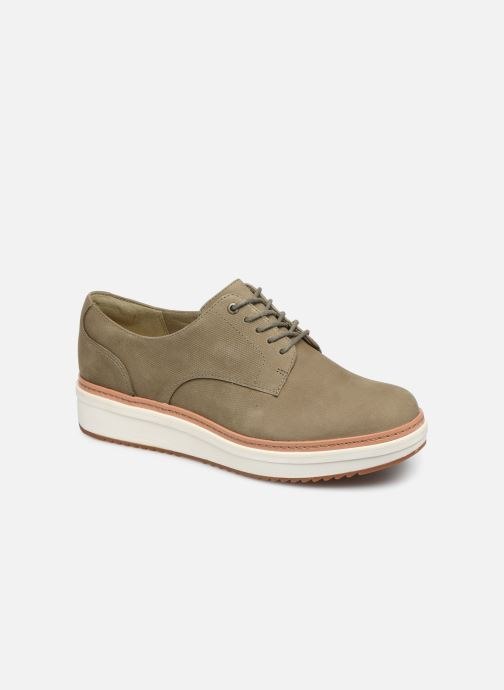 Lace-up shoes Clarks Teadale Rhea Green detailed view/ Pair view