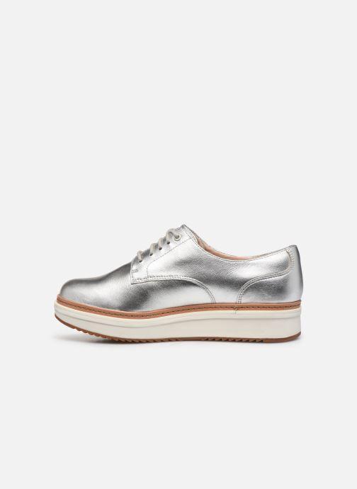 Zapatos con cordones Clarks Teadale Rhea Plateado vista de frente