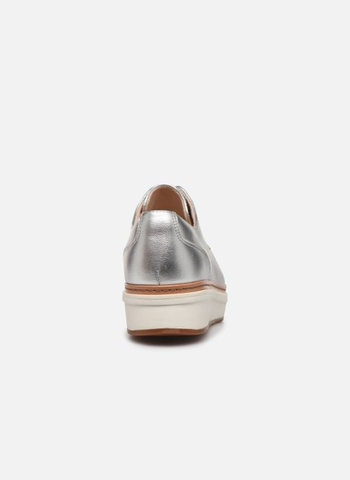 Zapatos con cordones Clarks Teadale Rhea Plateado vista lateral derecha