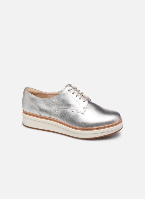 Zapatos con cordones Clarks Teadale Rhea Plateado vista de detalle / par