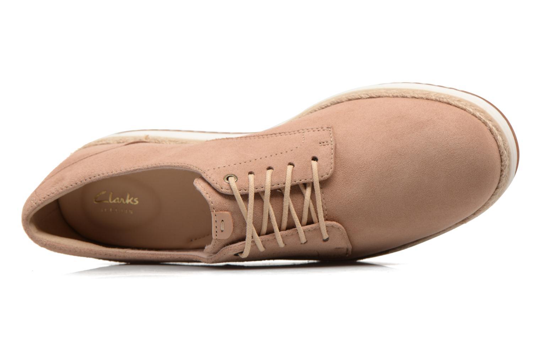 Chaussures à lacets Clarks Teadale Rhea Marron vue gauche