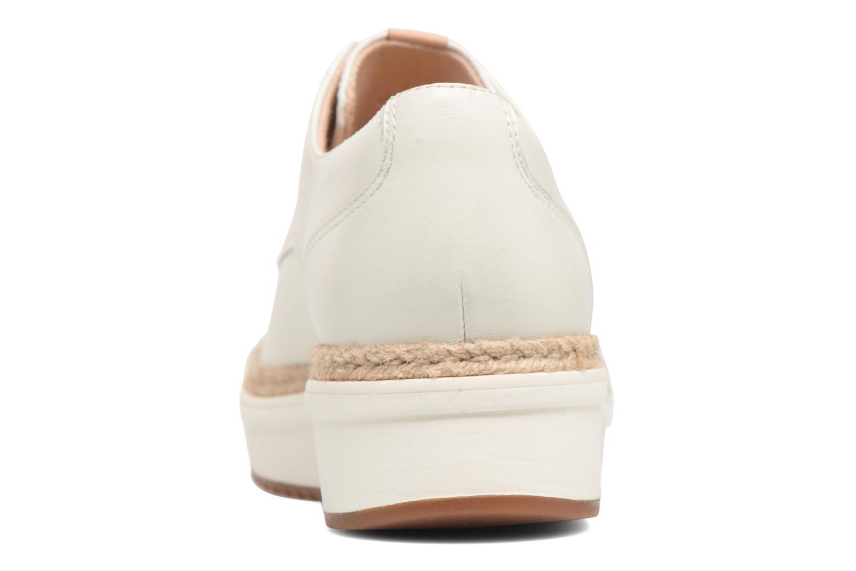 Chaussures à lacets Clarks Teadale Rhea Blanc vue droite