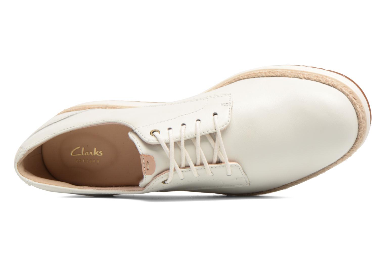 Chaussures à lacets Clarks Teadale Rhea Blanc vue gauche