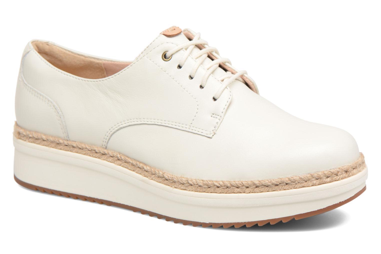 Chaussures à lacets Clarks Teadale Rhea Blanc vue détail/paire