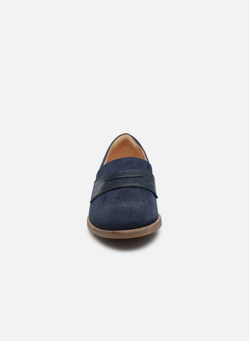 Mocassins Clarks Netley Lola Bleu vue portées chaussures