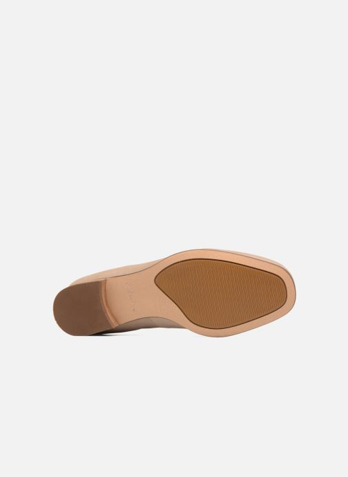 Loafers Clarks Pure Sense Beige view from above