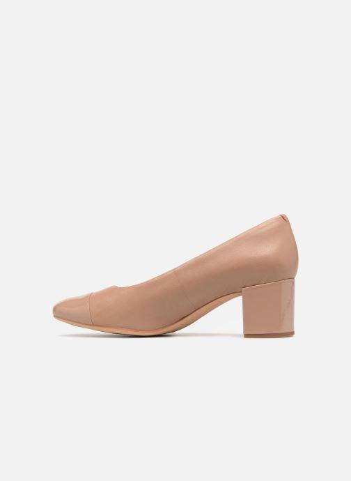 High heels Clarks Orabella Mia Beige front view