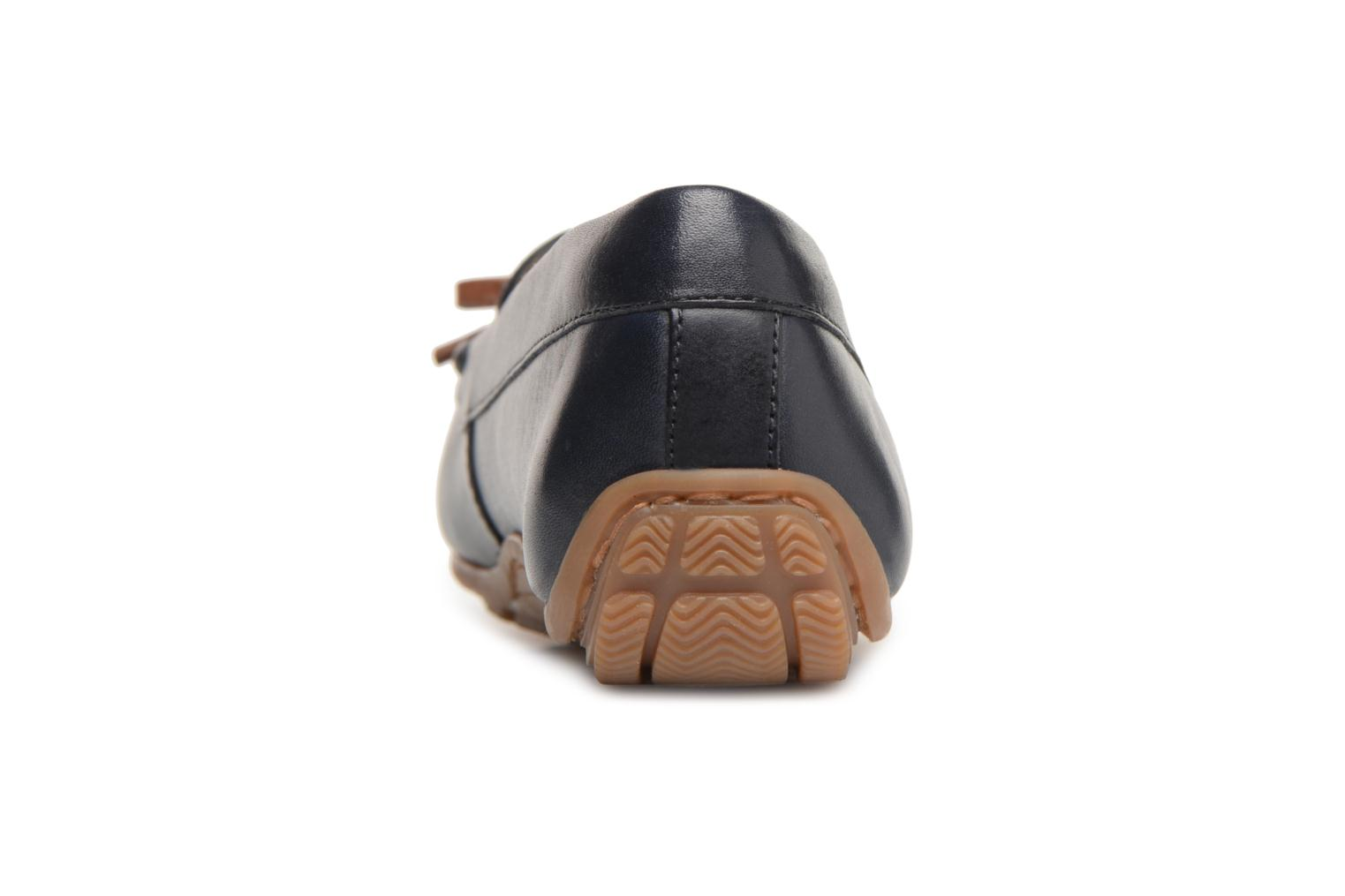 Loafers Clarks DAMEO SWING Blue view from the right