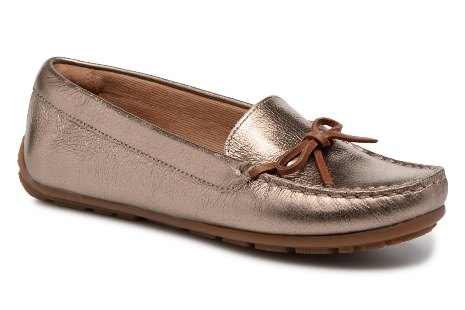 Mocassins Clarks DAMEO SWING Or et bronze vue détail/paire