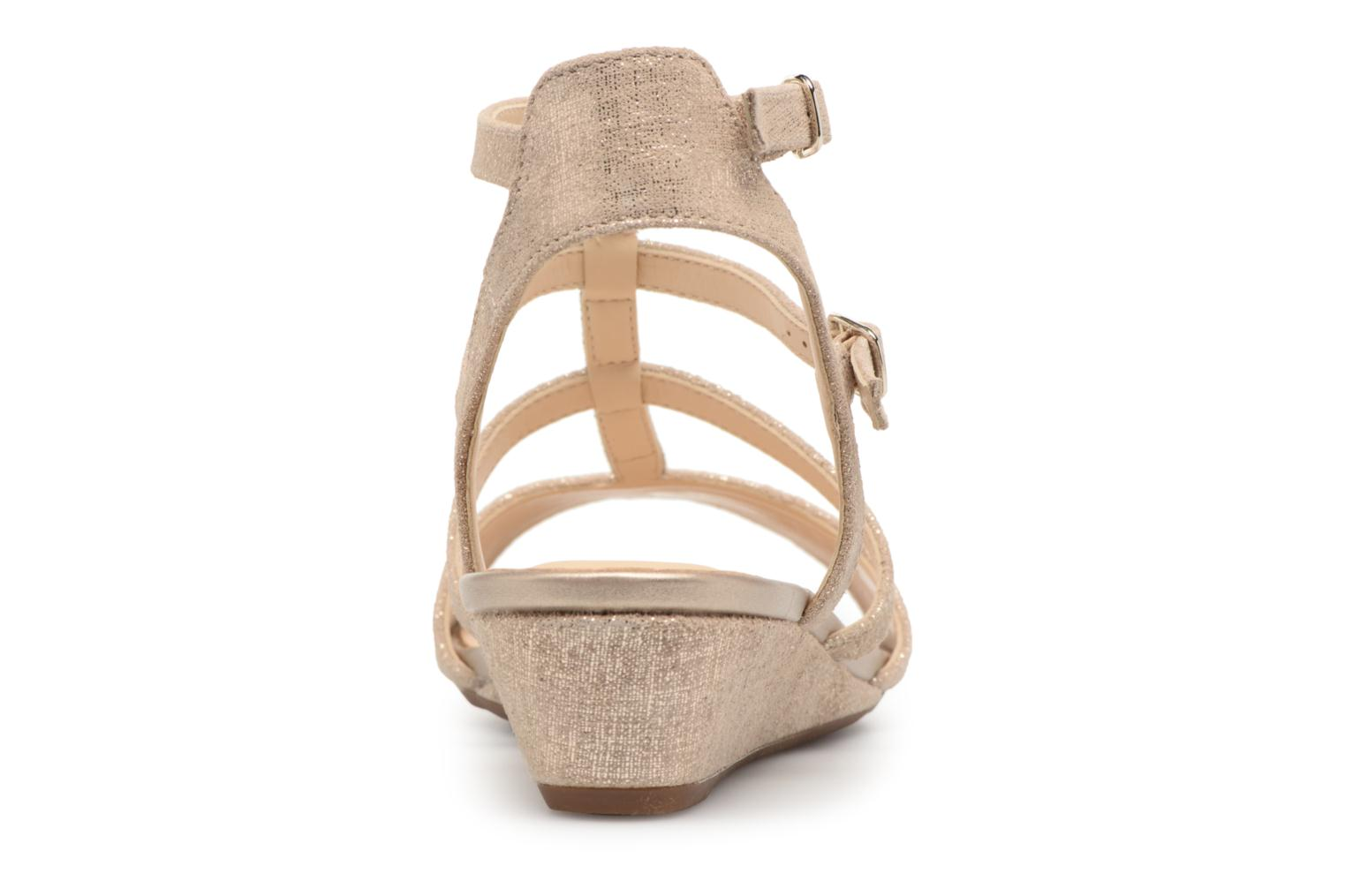 Sandals Clarks Parram Spice Bronze and Gold view from the right