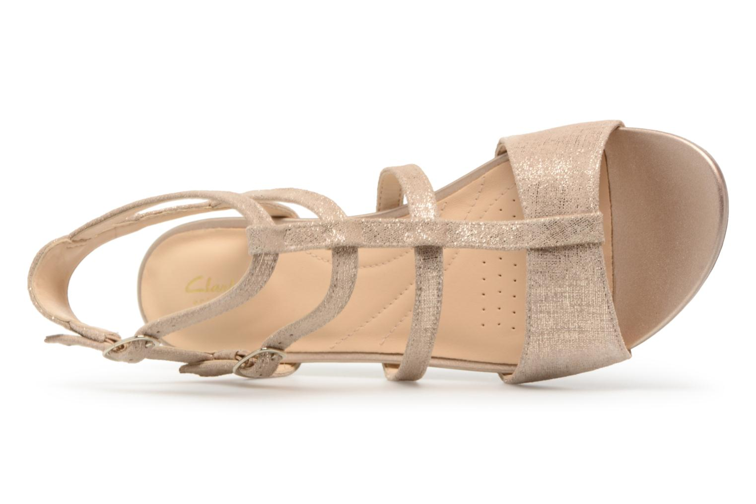 Sandals Clarks Parram Spice Bronze and Gold view from the left