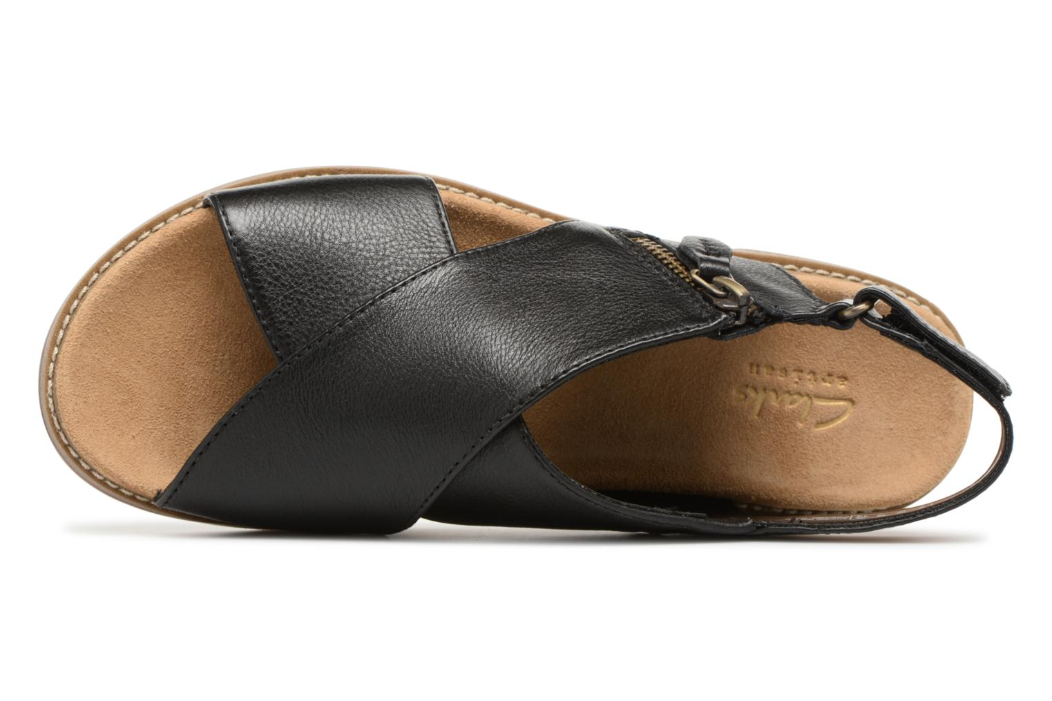 Sandals Clarks Corsio Calm Black view from the left