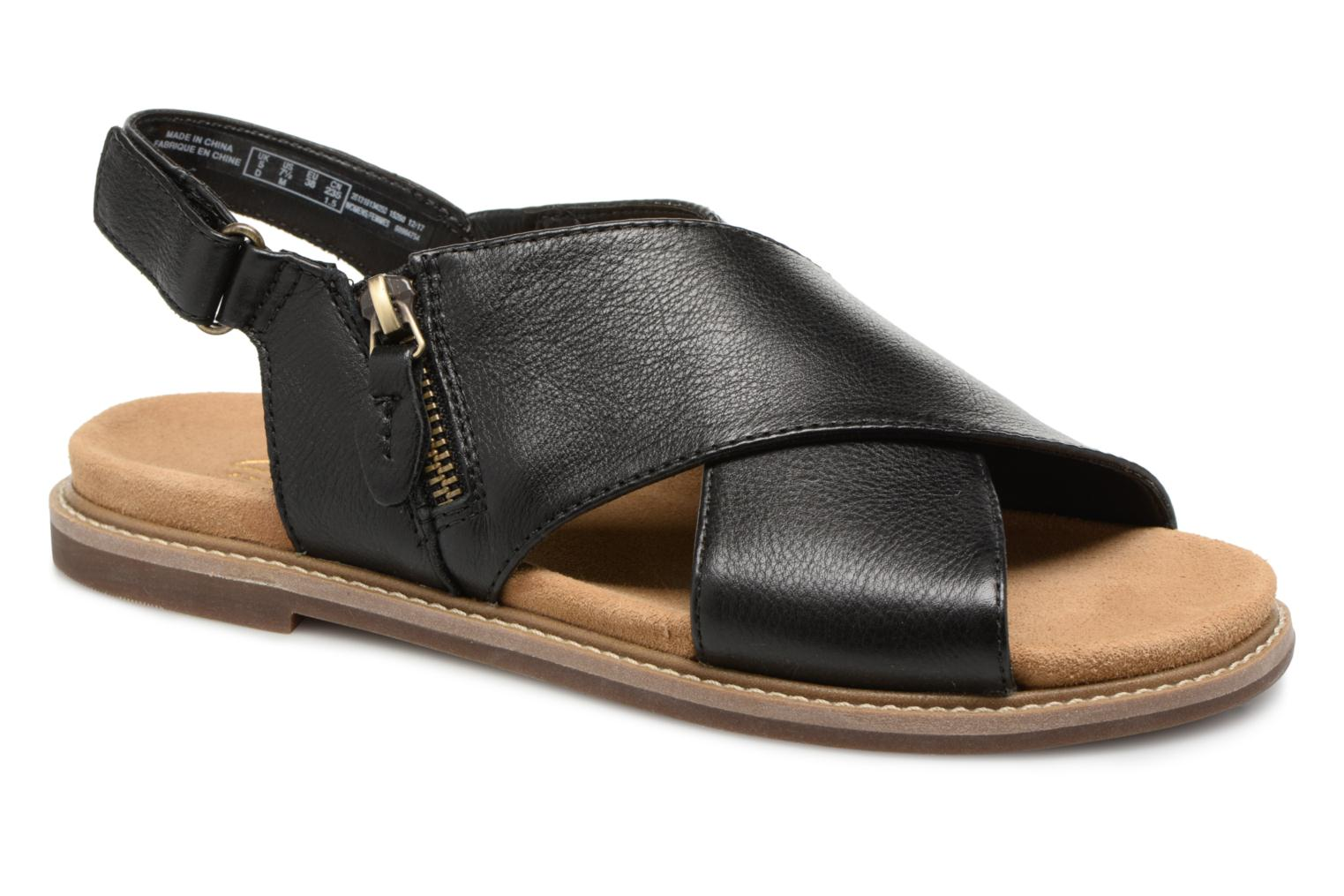 Sandals Clarks Corsio Calm Black detailed view/ Pair view