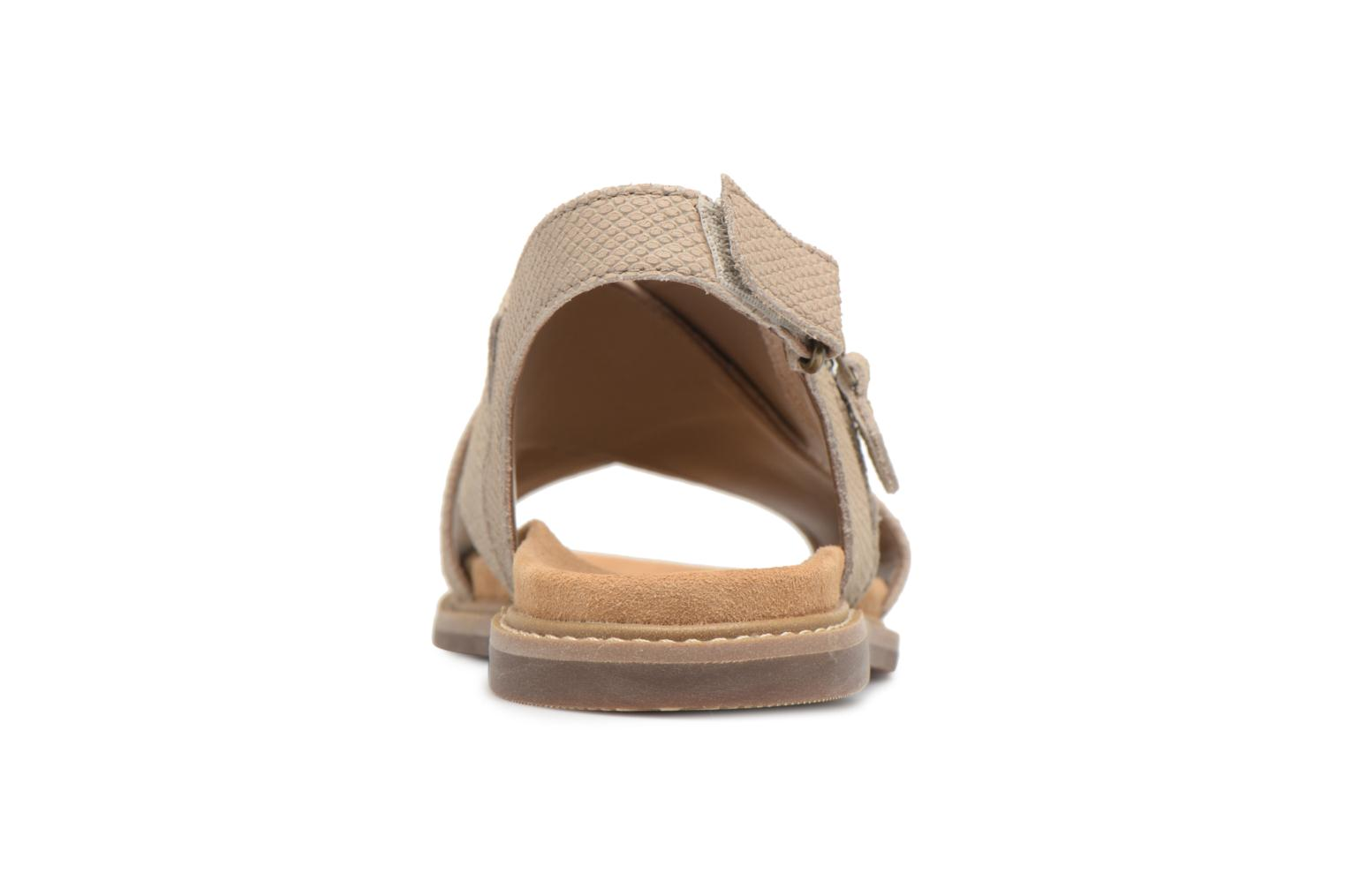 Sandals Clarks Corsio Calm Beige view from the right