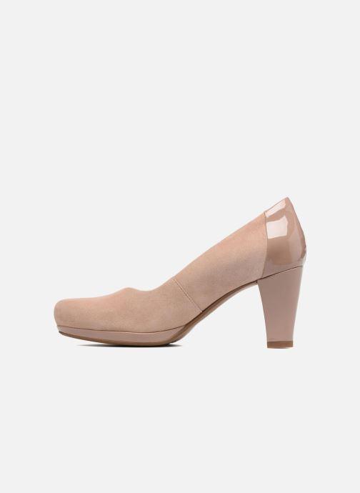 Zapatos de tacón Clarks Chorus Carol Rosa vista de frente