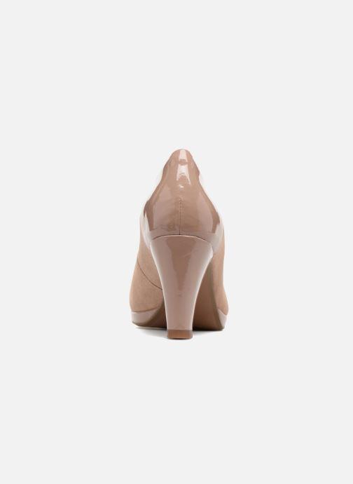 Zapatos de tacón Clarks Chorus Carol Rosa vista lateral derecha