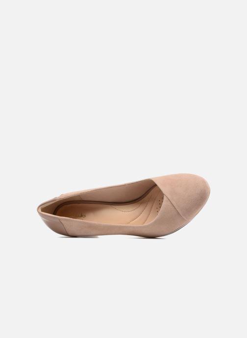 Zapatos de tacón Clarks Chorus Carol Rosa vista lateral izquierda