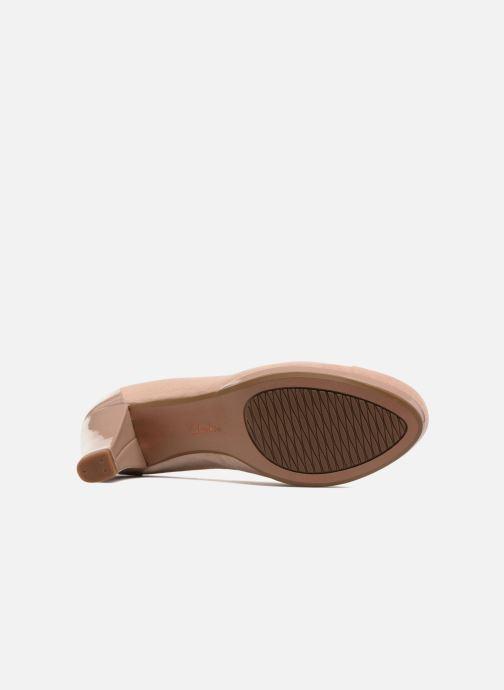 Zapatos de tacón Clarks Chorus Carol Rosa vista de arriba
