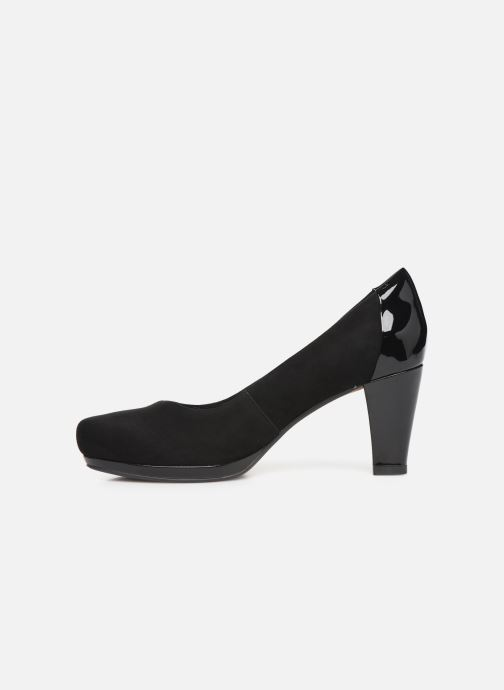 High heels Clarks Chorus Carol Black front view
