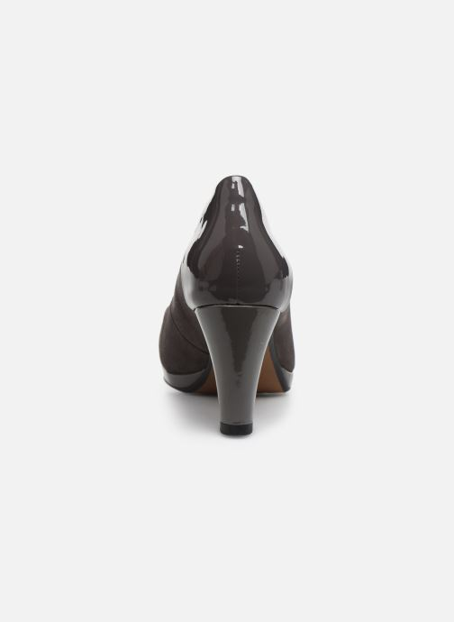 High heels Clarks Chorus Carol Grey view from the right