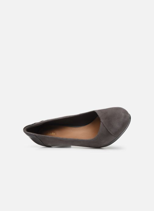 High heels Clarks Chorus Carol Grey view from the left