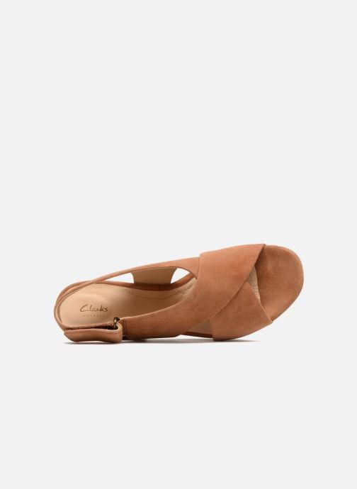 Sandales et nu-pieds Clarks Maritsa Lara Marron vue gauche