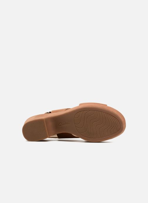 Sandales et nu-pieds Clarks Maritsa Lara Marron vue haut