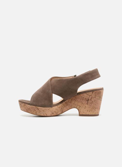 Sandales et nu-pieds Clarks Maritsa Lara Vert vue face