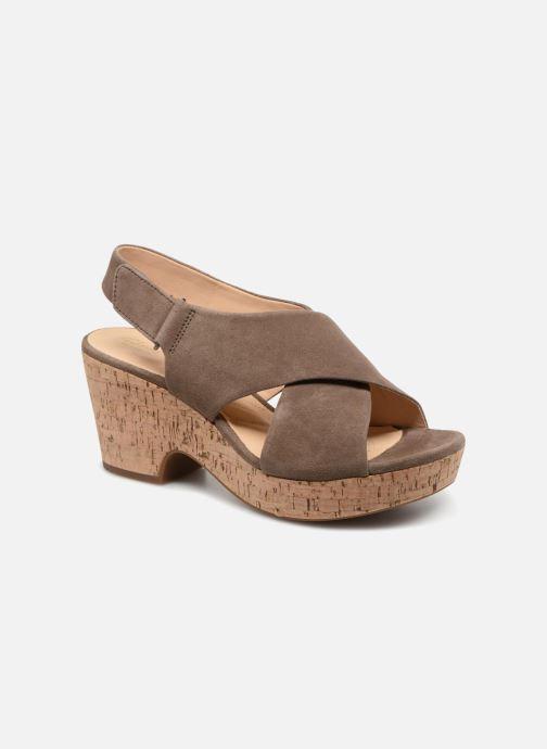 Sandaler Clarks Maritsa Lara Grøn detaljeret billede af skoene