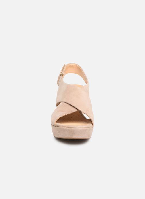 Sandalen Clarks Maritsa Lara beige schuhe getragen
