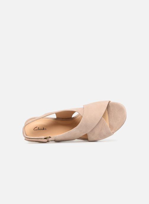 Sandali e scarpe aperte Clarks Maritsa Lara Beige immagine sinistra