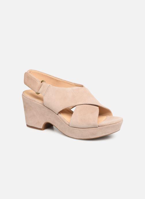 Sandaler Clarks Maritsa Lara Beige detaljeret billede af skoene