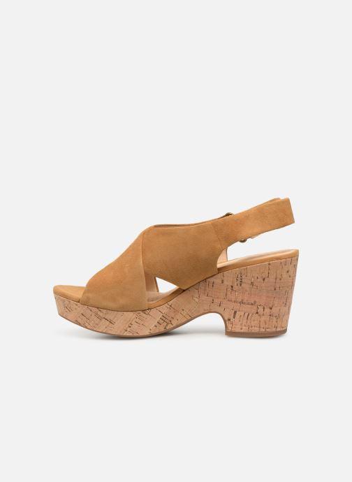 Sandales et nu-pieds Clarks Maritsa Lara Jaune vue face