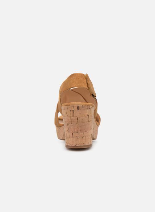 Sandales et nu-pieds Clarks Maritsa Lara Jaune vue droite