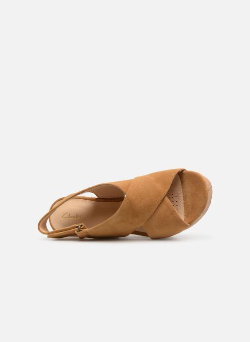 Sandales et nu-pieds Clarks Maritsa Lara Jaune vue gauche