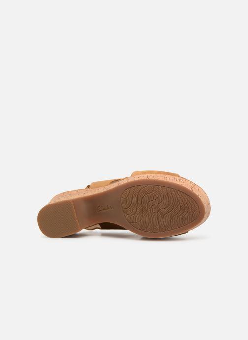 Sandali e scarpe aperte Clarks Maritsa Lara Giallo immagine dall'alto
