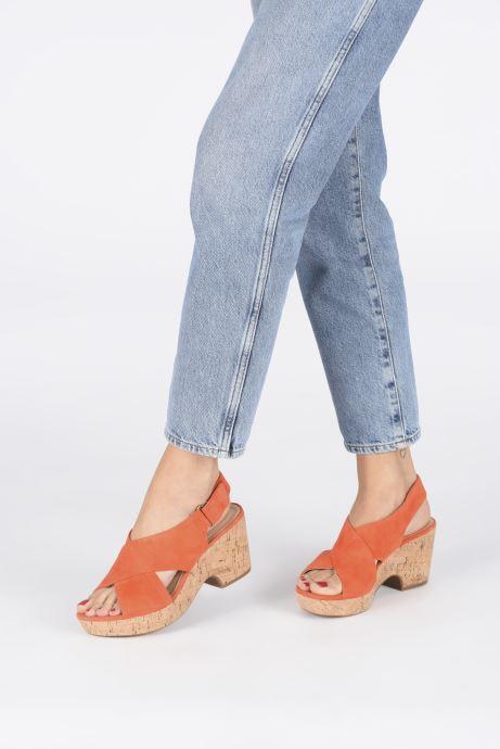 Sandales et nu-pieds Clarks Maritsa Lara Orange vue bas / vue portée sac