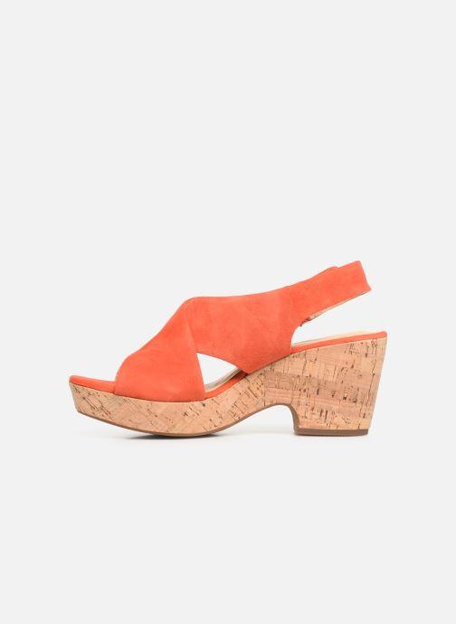 Sandales et nu-pieds Clarks Maritsa Lara Orange vue face