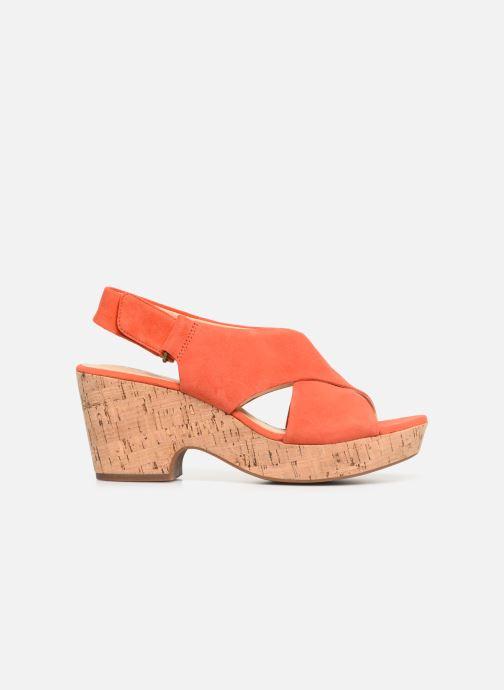 Sandales et nu-pieds Clarks Maritsa Lara Orange vue derrière