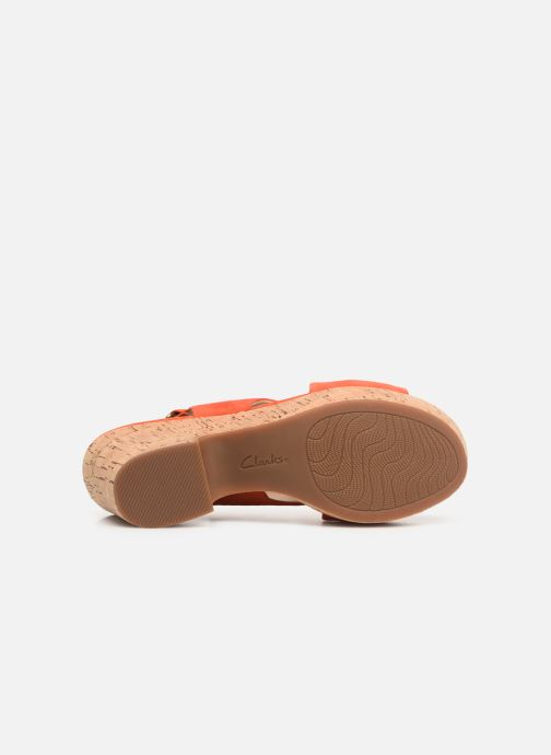 Sandales et nu-pieds Clarks Maritsa Lara Orange vue haut