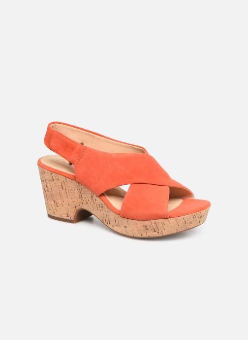 Sandaler Clarks Maritsa Lara Orange detaljeret billede af skoene